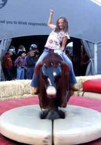 Nina rides the bull